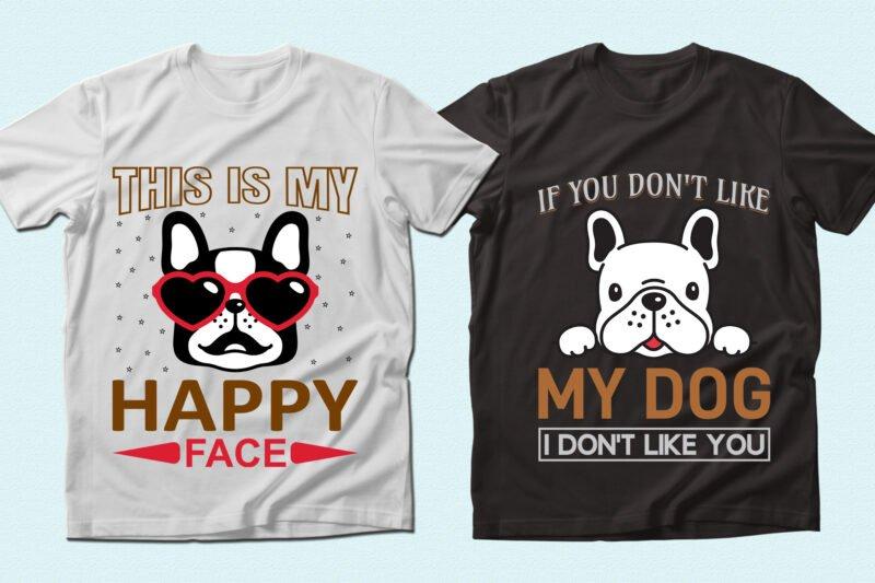 Stylish and happy bulldogs.