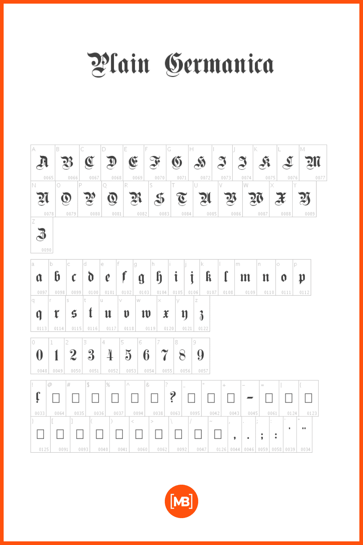 A sinuous font with decorative elements.