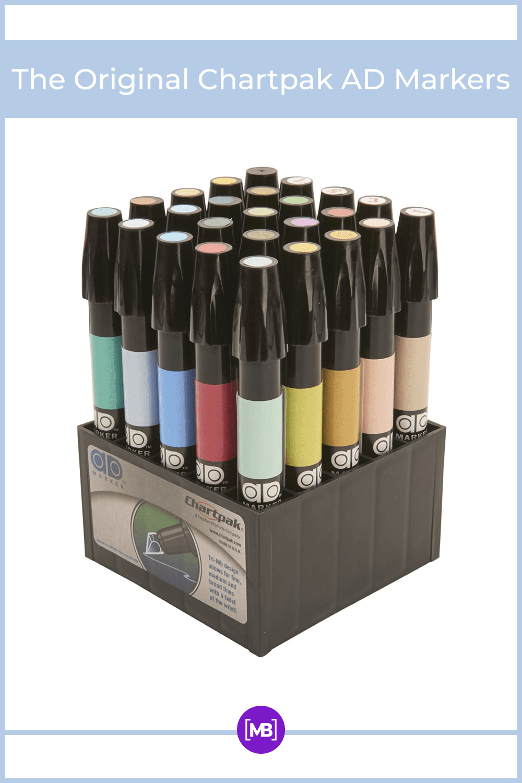 Professional, xylene-based marker for art and design.