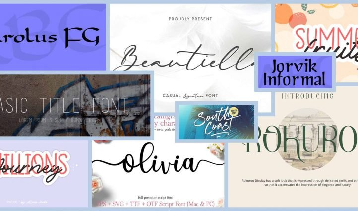 10 Best Cricut Fonts in 2021 Example.