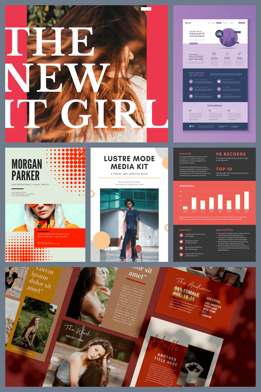 Media Kit Templates Pinterest.