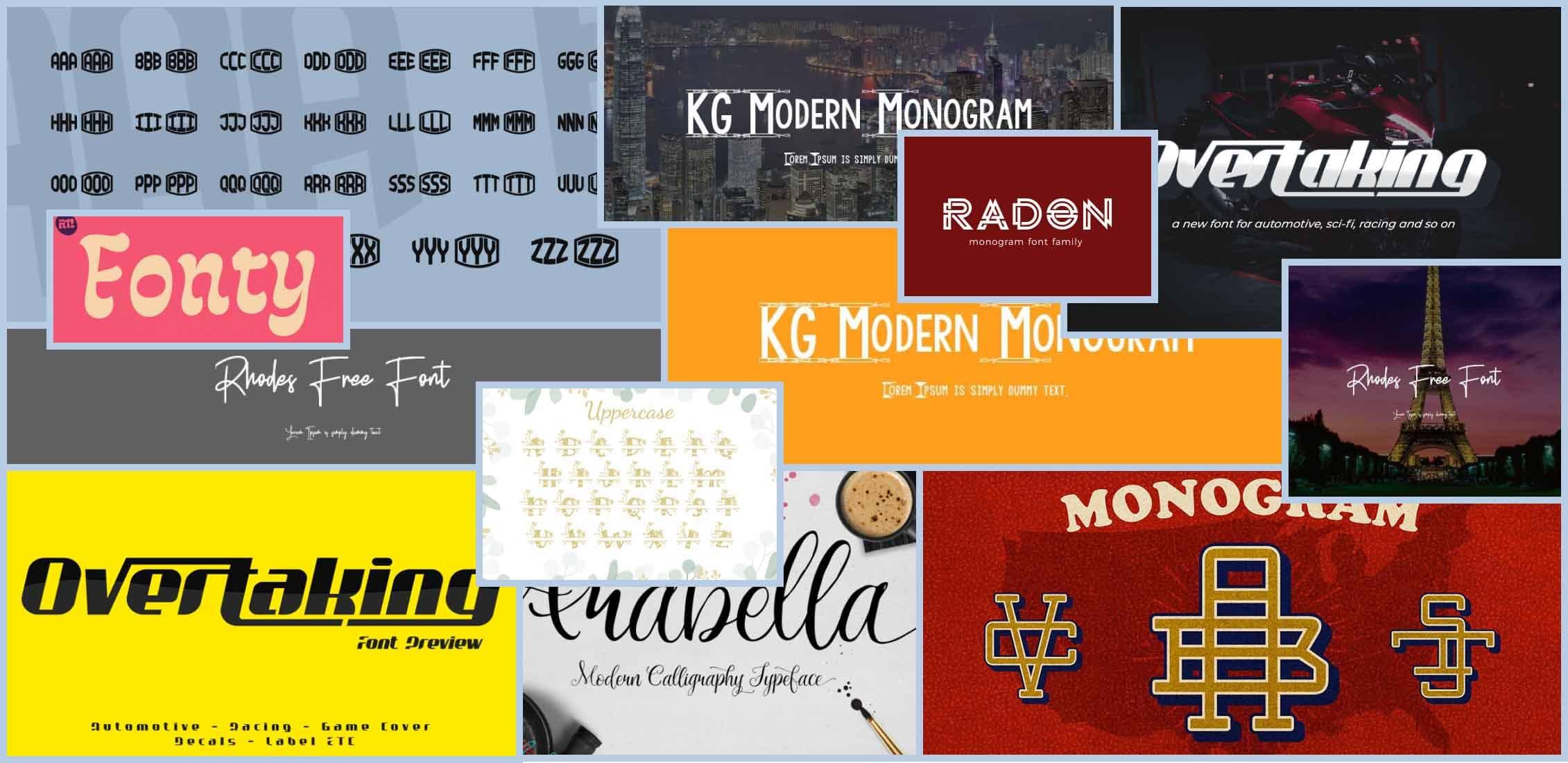 10 Best Monogram Fonts Example.