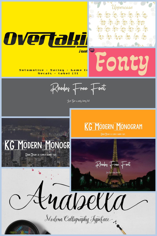 Monograma fonts Pinterest.