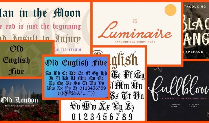 10 Best Old English Fonts Example.