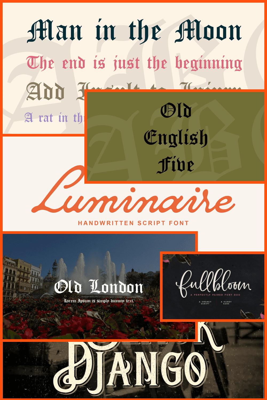 Old English Fonts Pinterest.