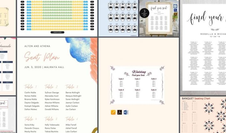 10 Best Wedding Seating Chart Templates Example.