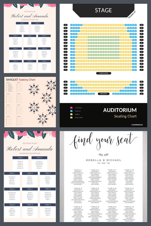 Wedding Seating Chart Templates Pinterest.