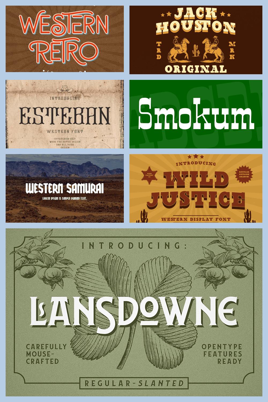 Western Fonts Pinterest.