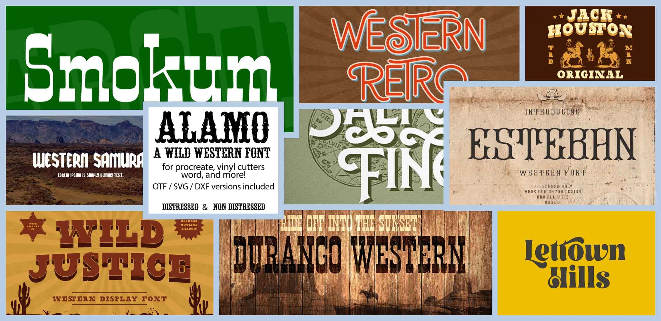 10 Best Western Fonts in 2021 Example.