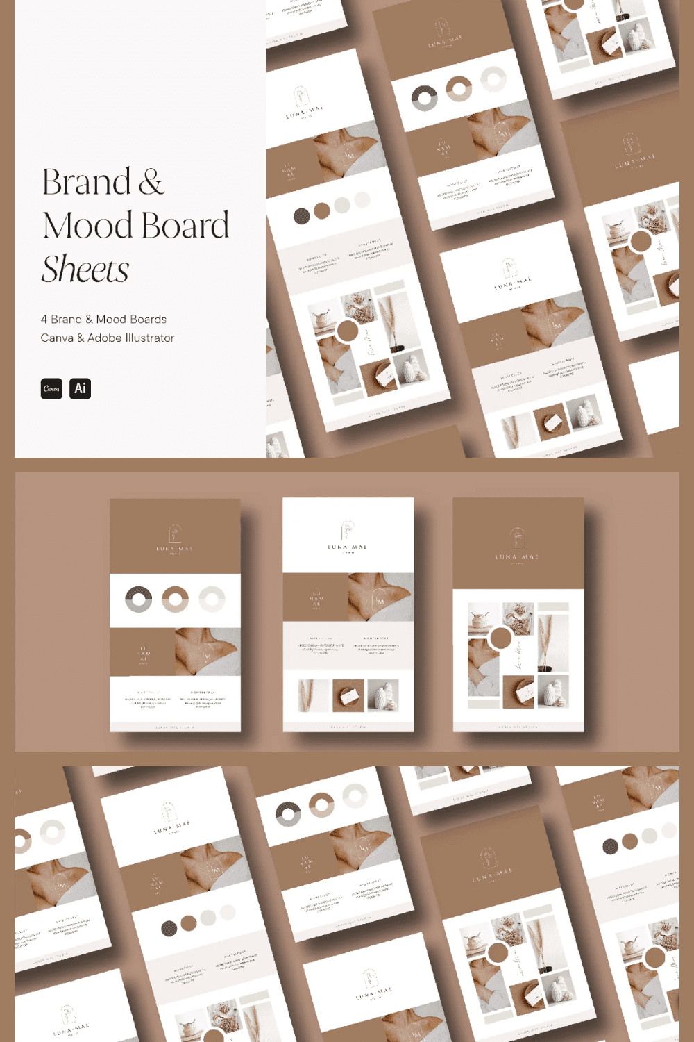 Brown and beige colors, soft lines and shapes and an inspiring look.