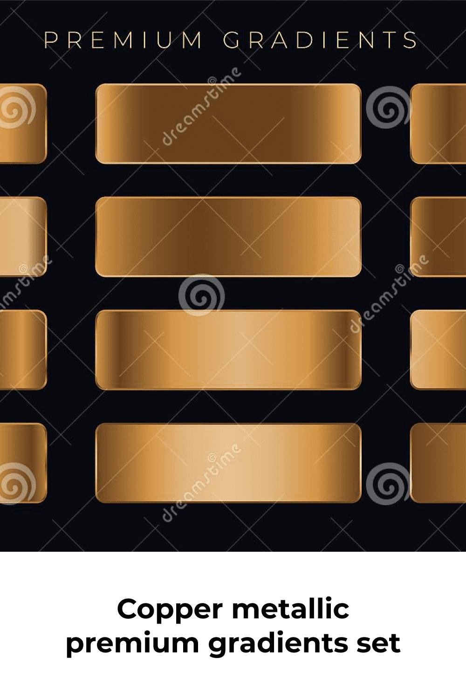 Copper metallic premium gradients.