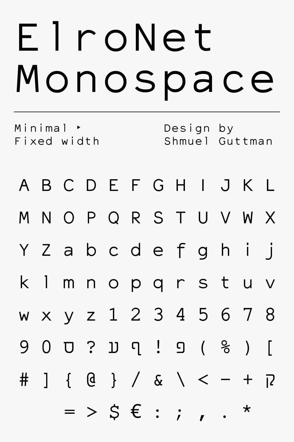 Typeface to get your message across.