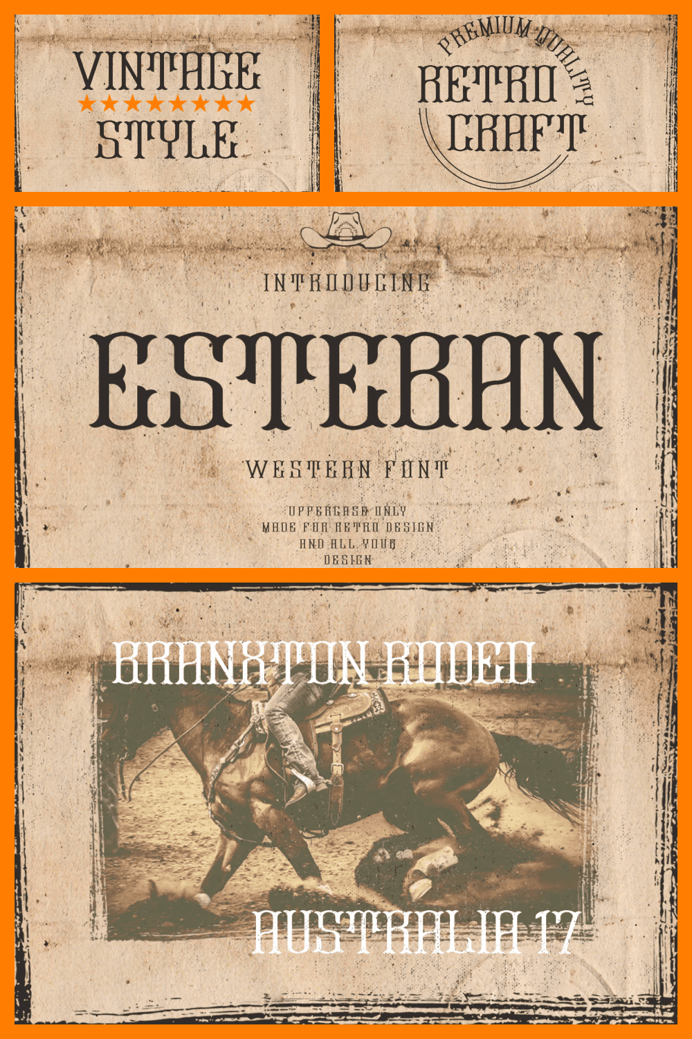A retro serif typeface for the Wild West.