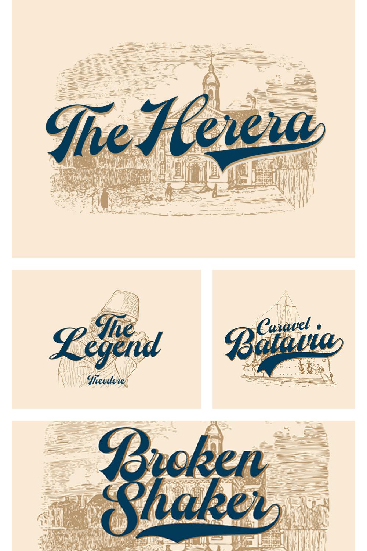 Retro font in Brazilian style.