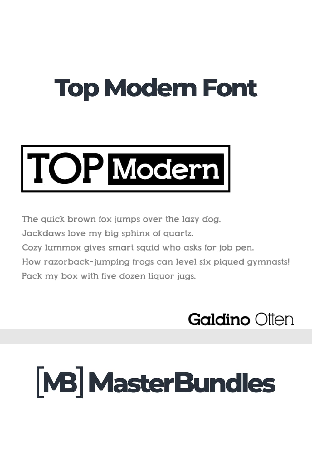 Black and white font with a stylish magazine effect.