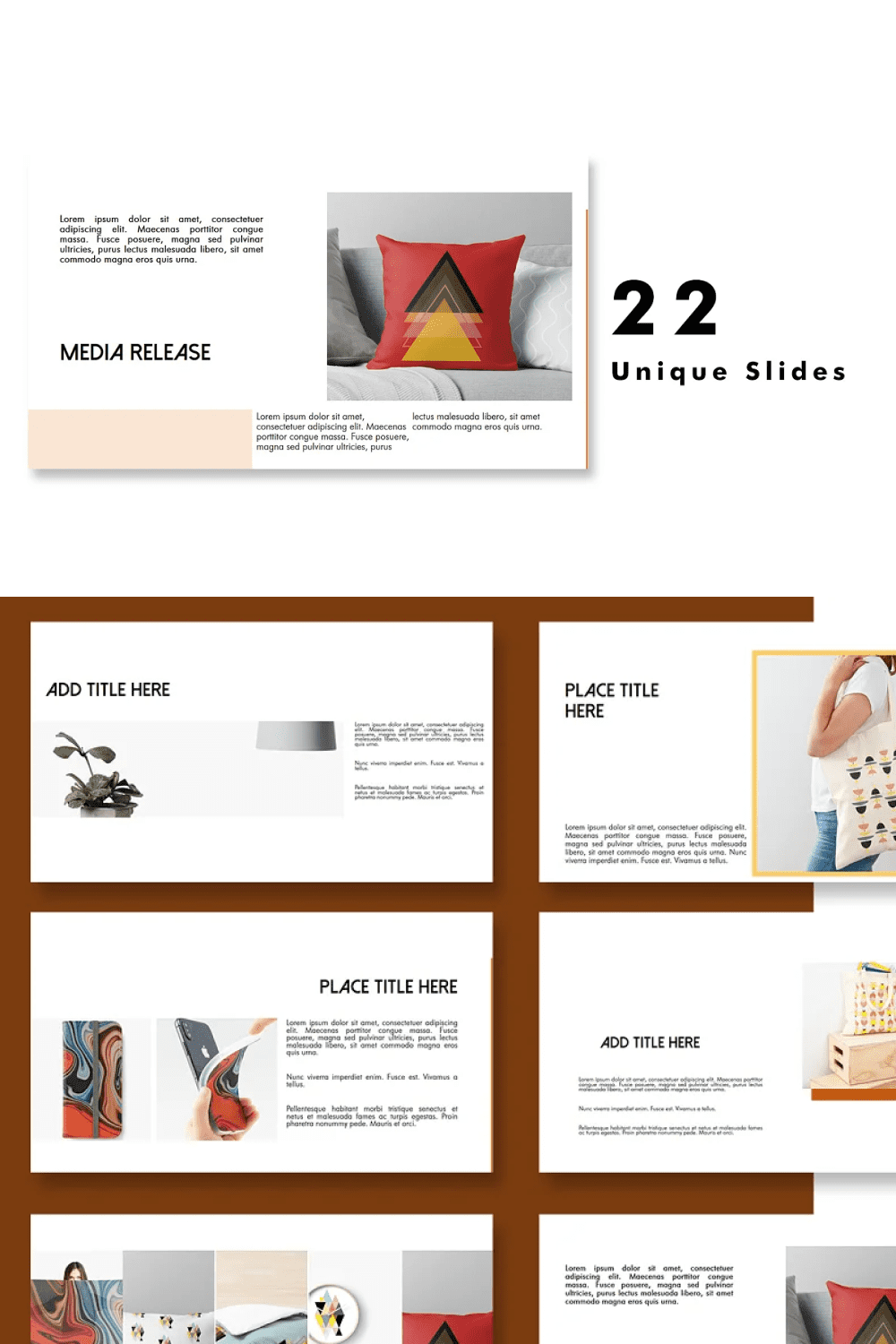 A beautiful and noble presentation template.