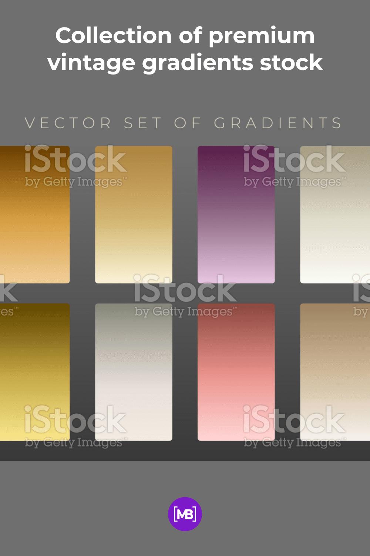 Collection of premium vintage gradients.