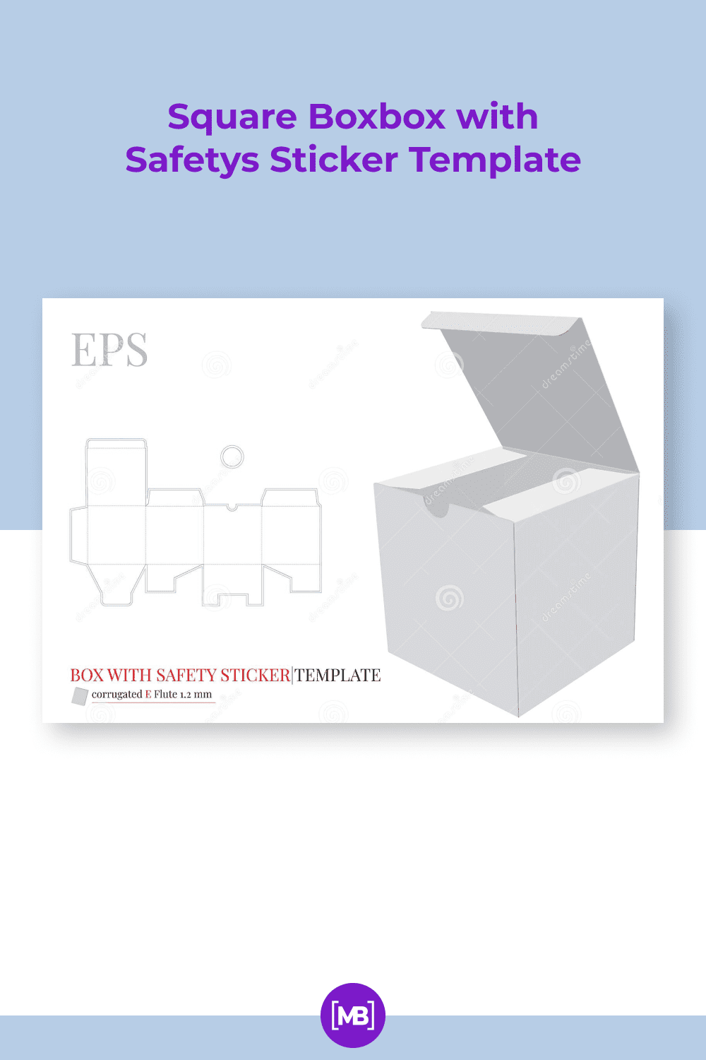 White, clear, blank, isolated cube mock up.