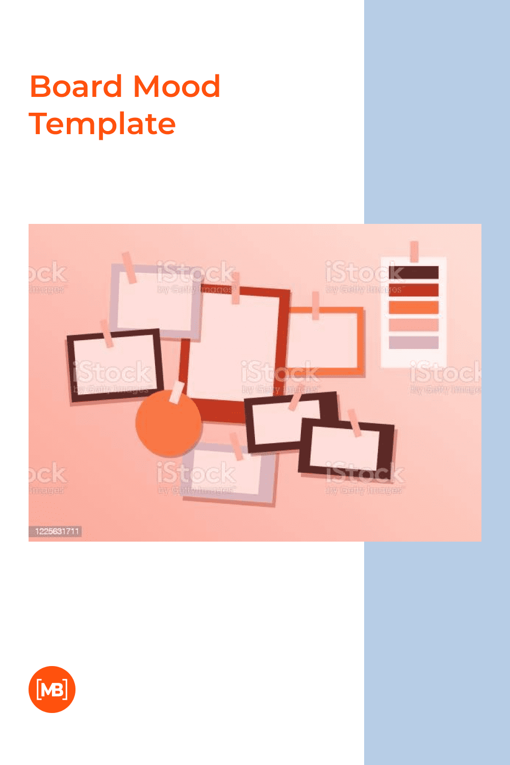 Modern brand mood concept design template empty for messages minimalistic color.