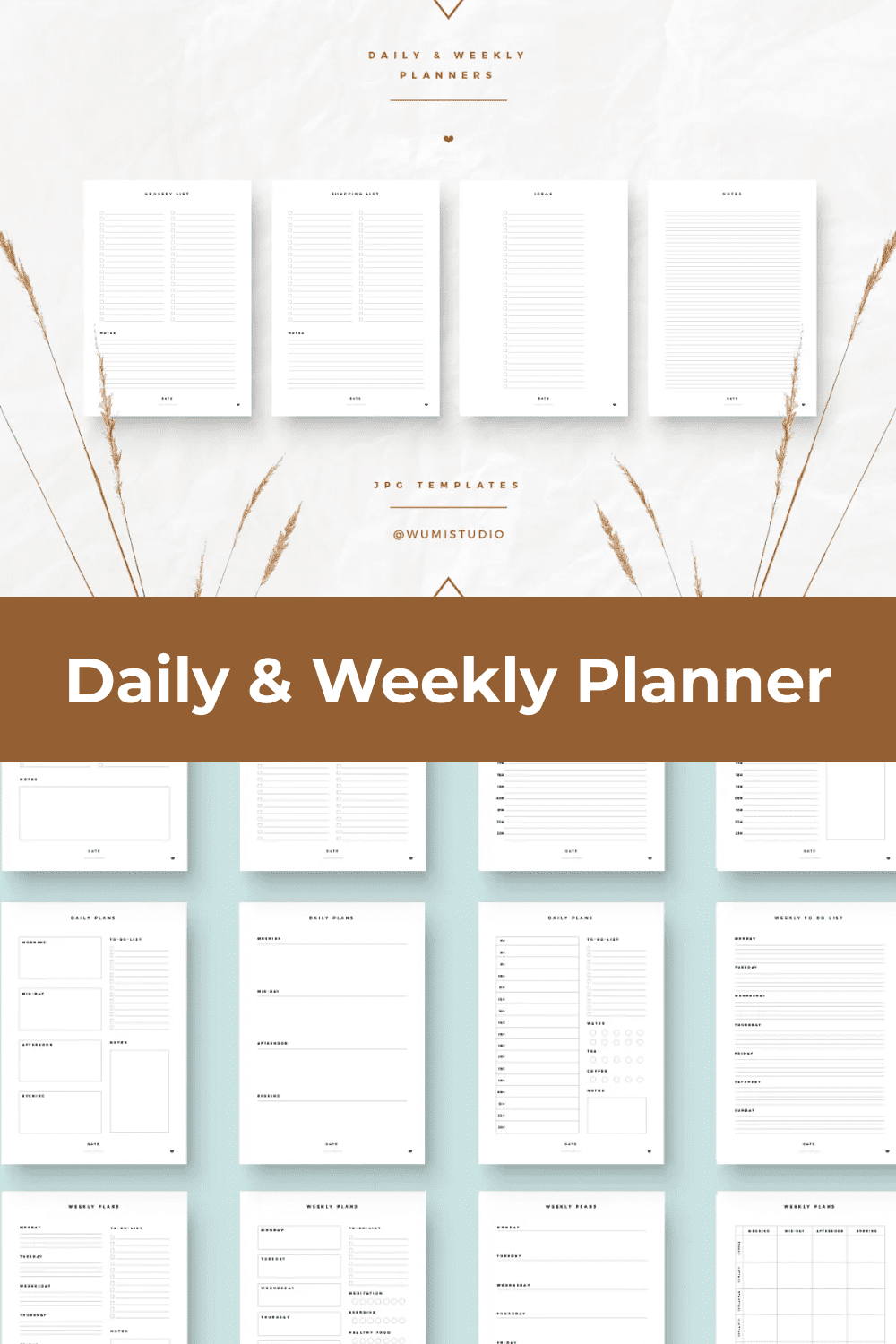Simple and delicate banner template for easy planning of your life.