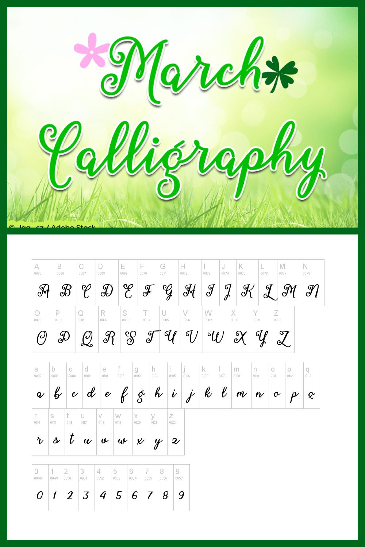 A little cartoon font in green.