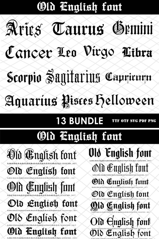 Dark font, like old castles in Scotland.