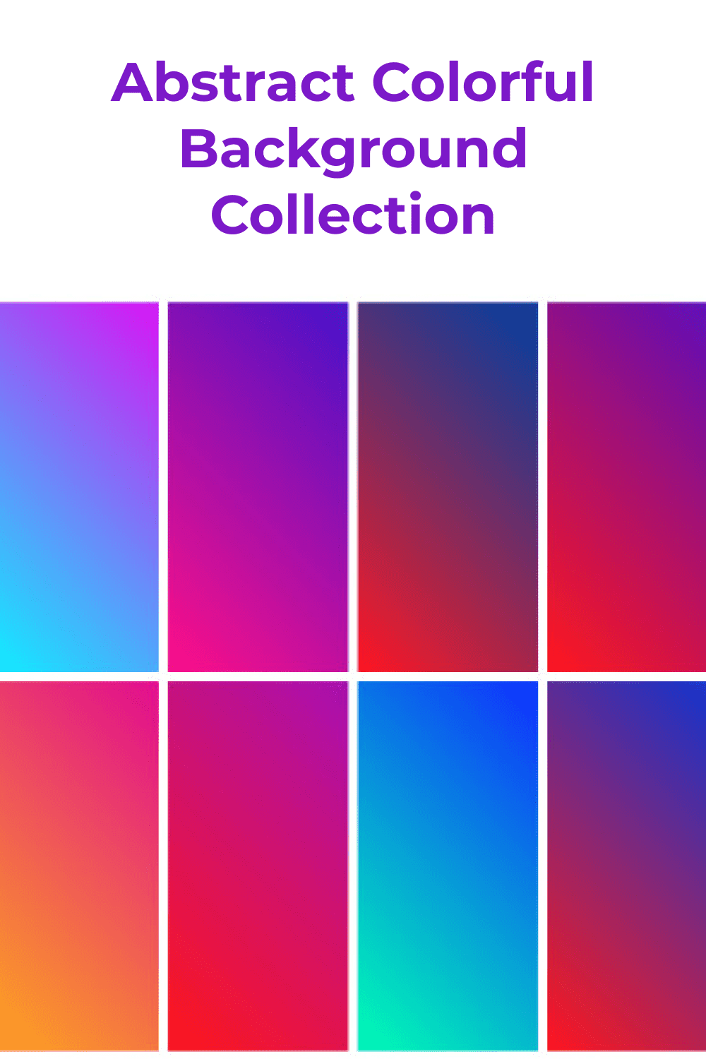 A variety of color schemes and linear gradients are great background options.