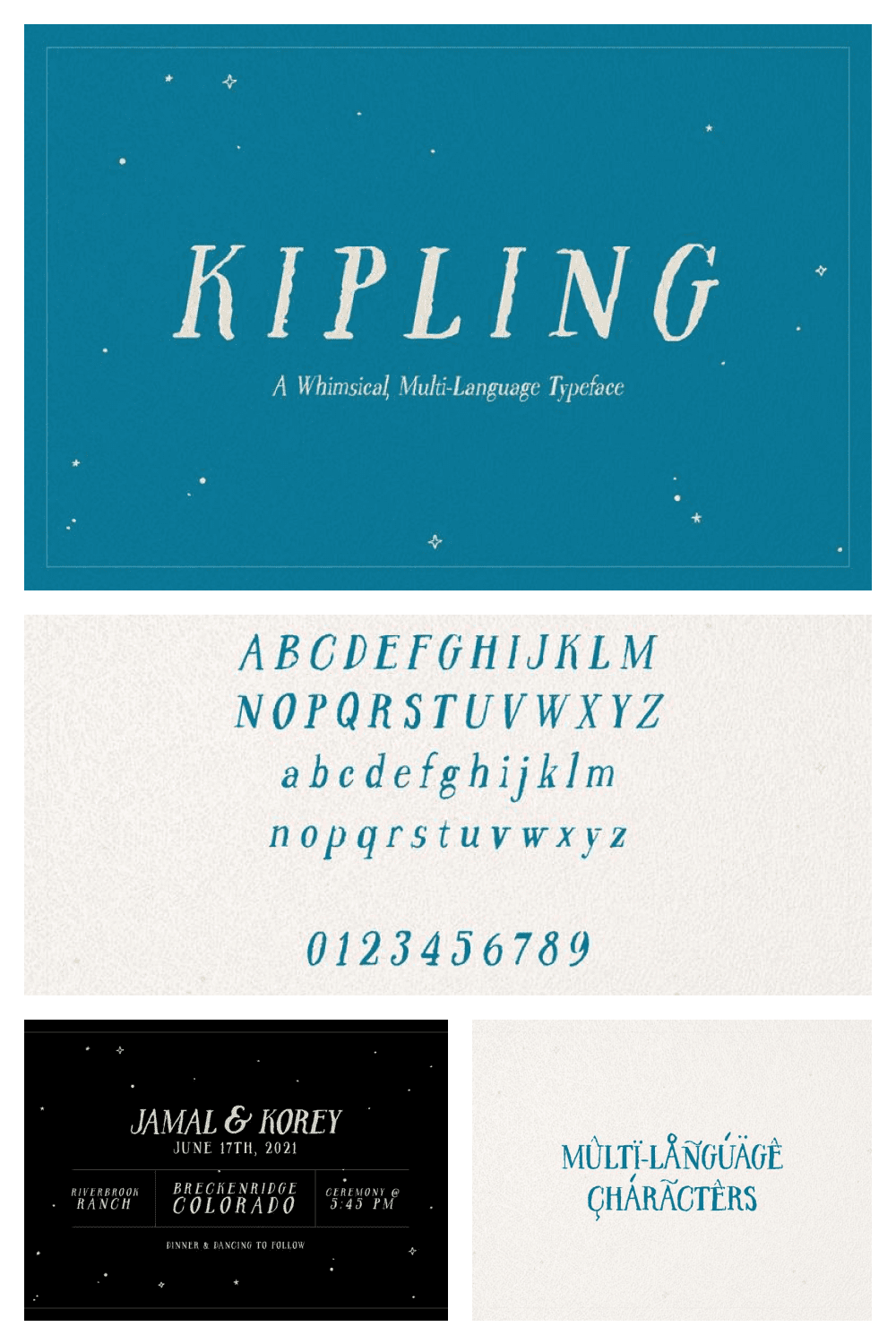 An adventurous font for exciting books.