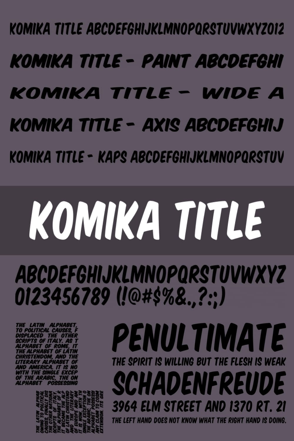 Dancing font for funny newspapers and magazines.