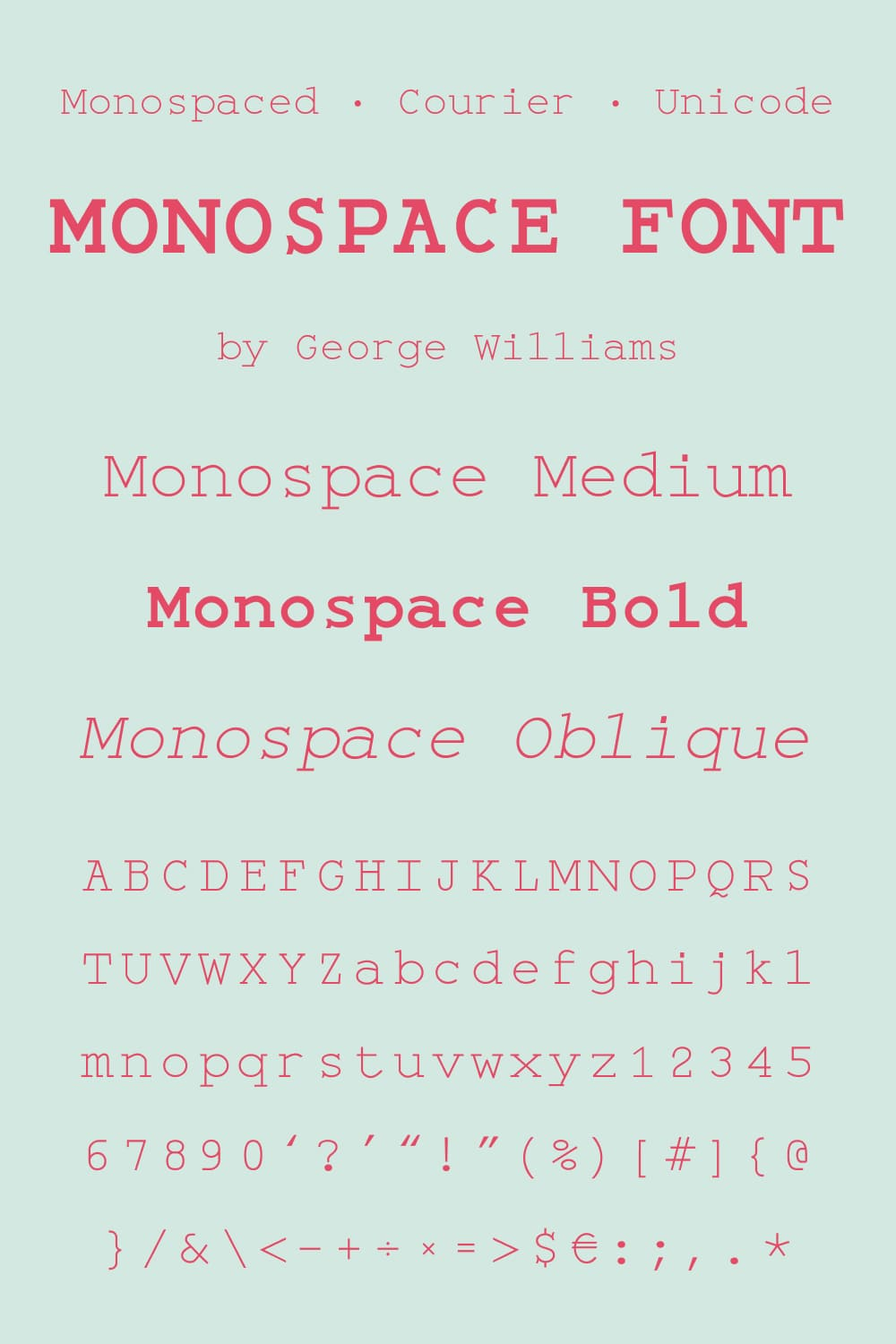 Creative typeface with multiple implementations.
