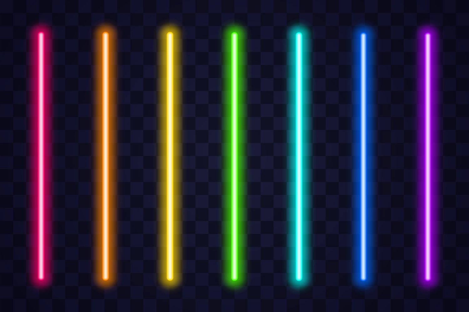 Smooth neon lines in different colors.