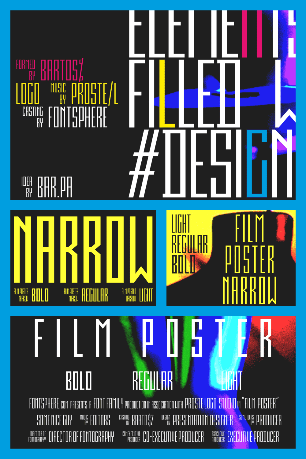 A great and easy to read font for posters.