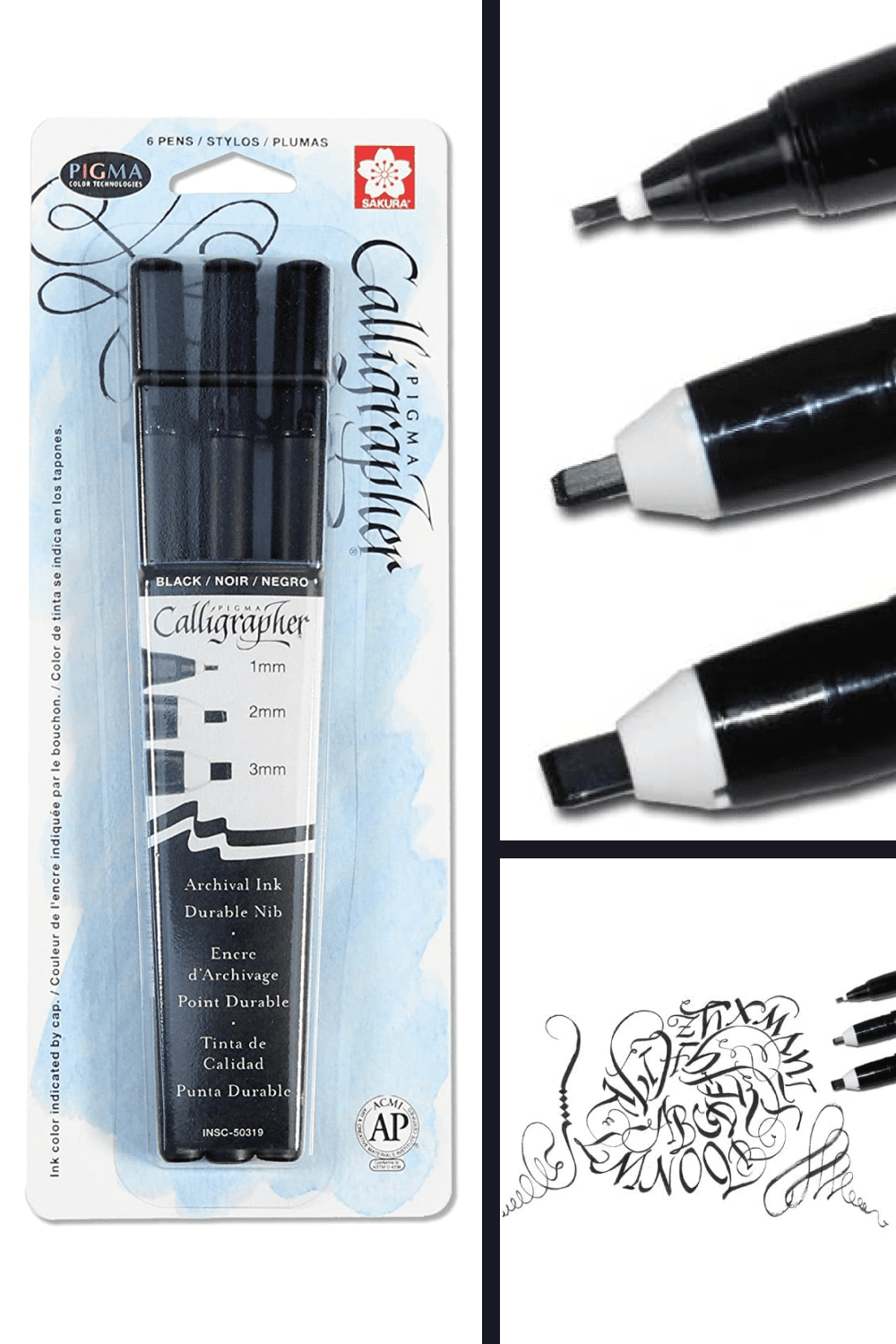 The Pigma Calligrapher pen is a unique, all-in-one, durable lettering art tool that produces crisp edges and sharp hairlines.