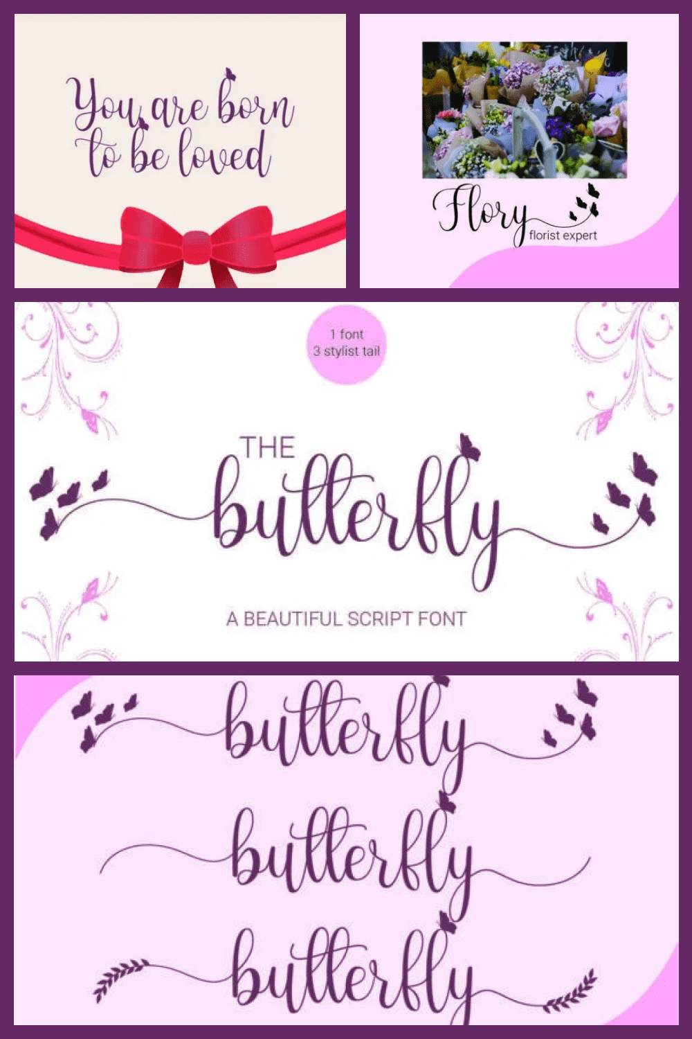 This is a stylish feminine typeface with high detail to present a luxurious style.