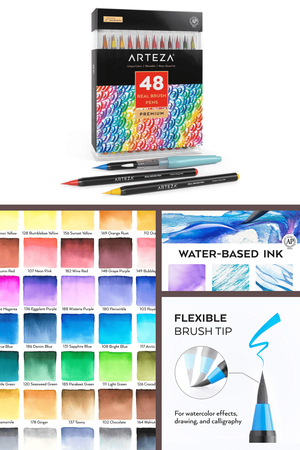 These premium paint pens offer richer colors & finer, more flexible tips than you'd get with costlier brands.
