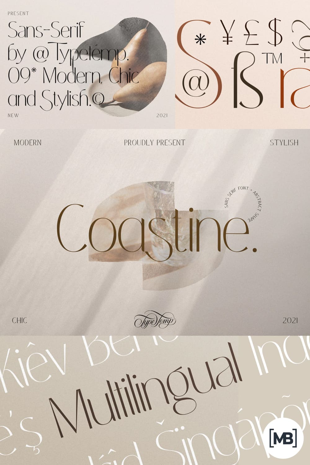It is the perfect font for trendy themes, stylish reviews, and art themed.