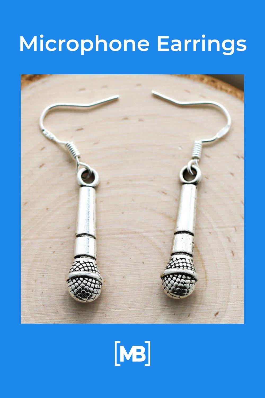 Microphone Earrings.