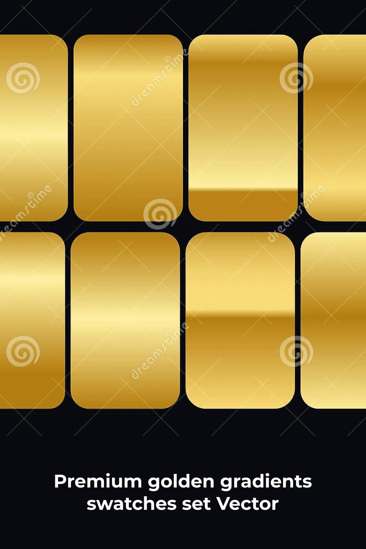 Golden gradients on the metal texture.