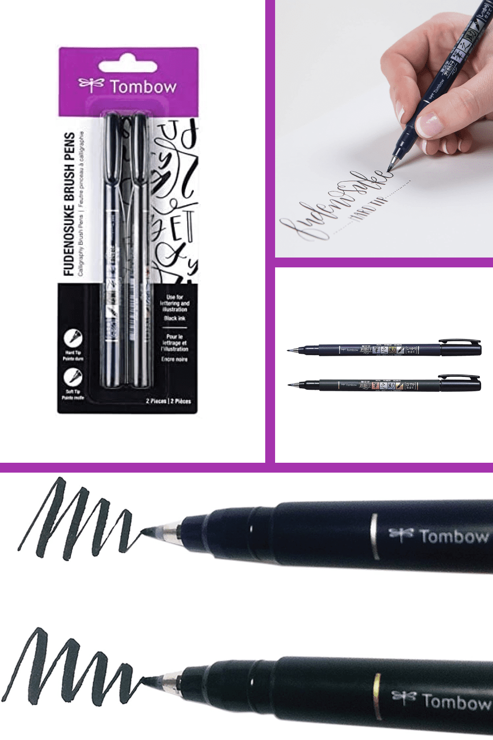 Contains both the soft and hard tip Fudenosuke Brush Pens.