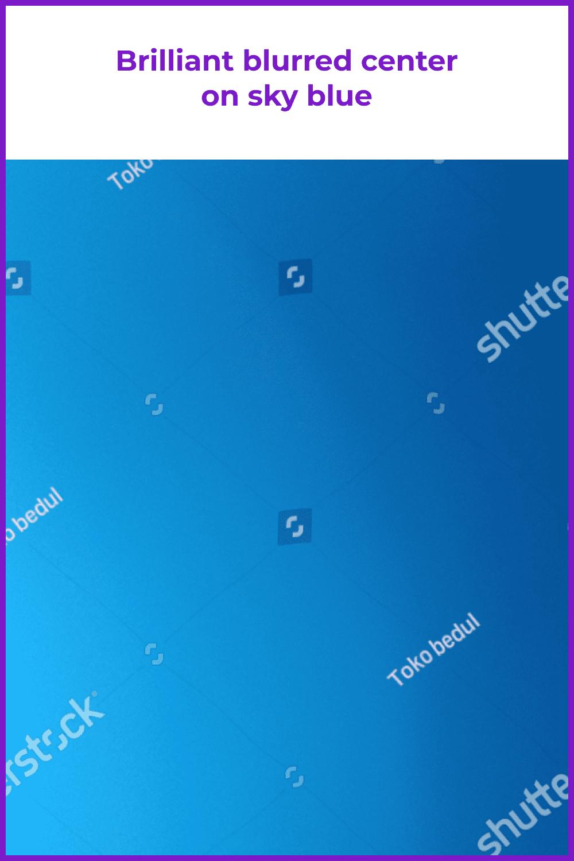 Gradient radial blur design.