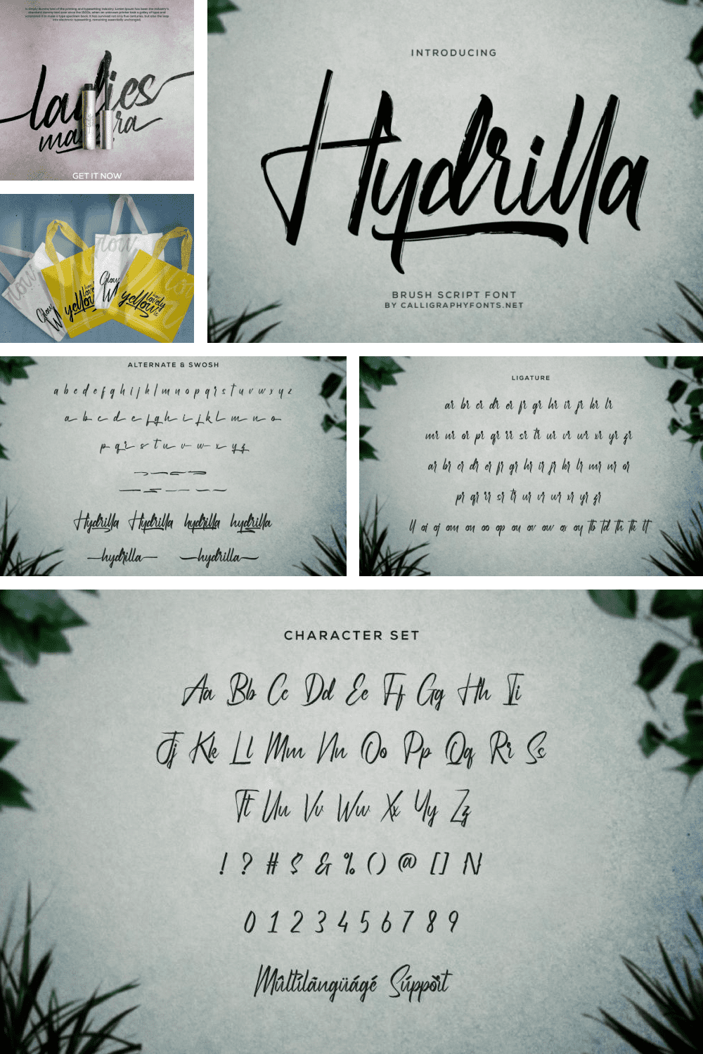 Bright writing and eye-catching font.