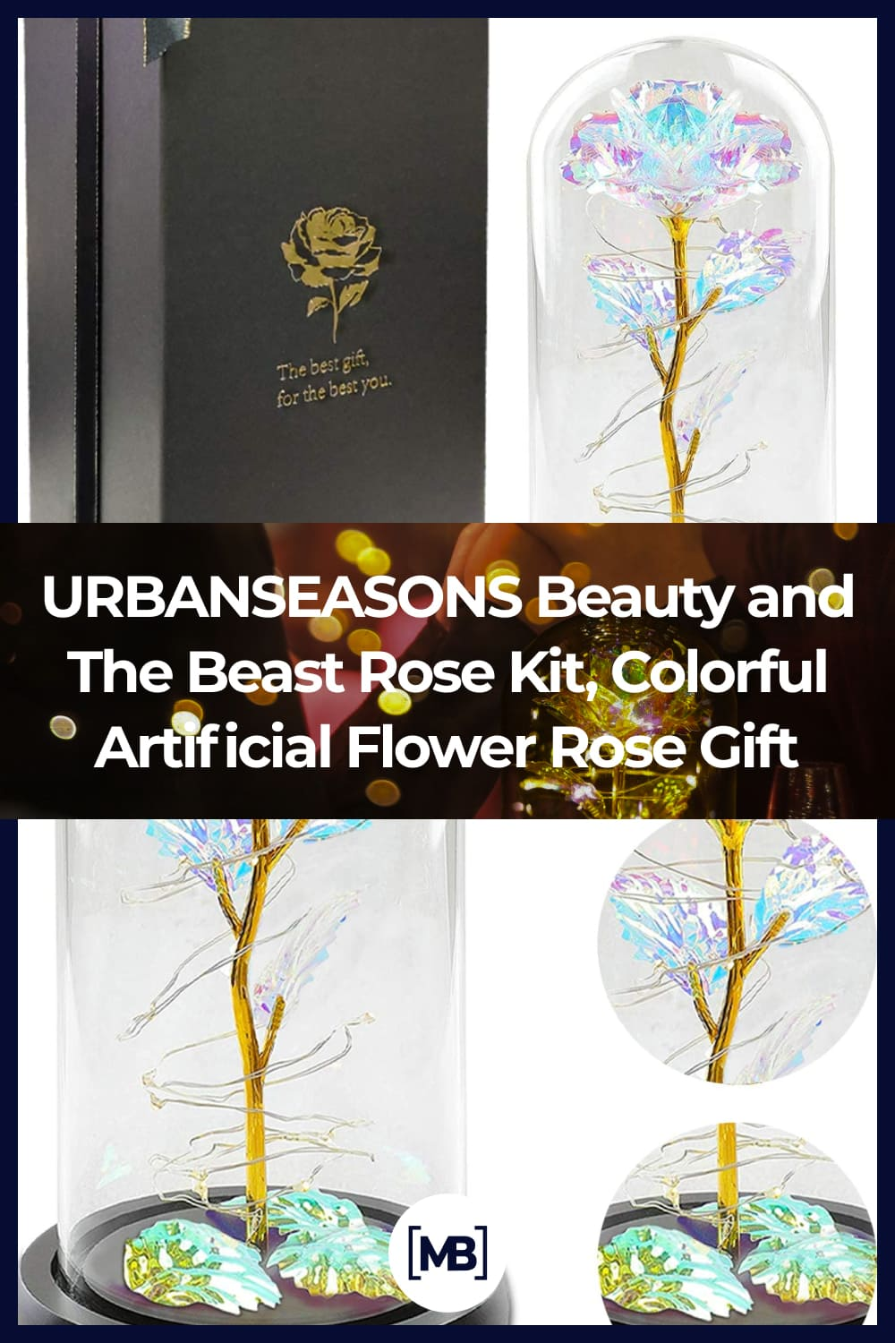 Rose represents love, this gold foil rose and not fading rose symbolizes your forever love.