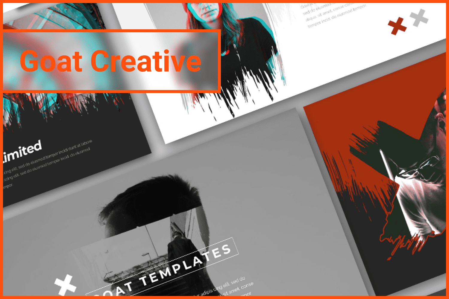 Art template as a great opportunity for self-presentation.