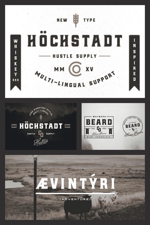 German style font.