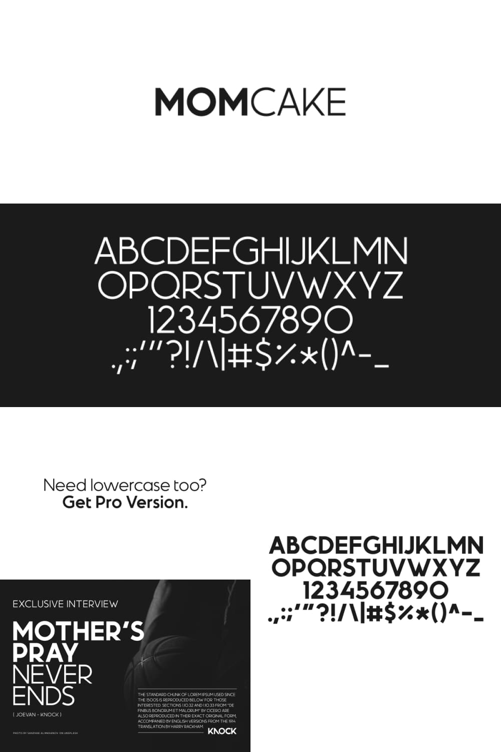 Contrast use of type - bold with thin in one context.