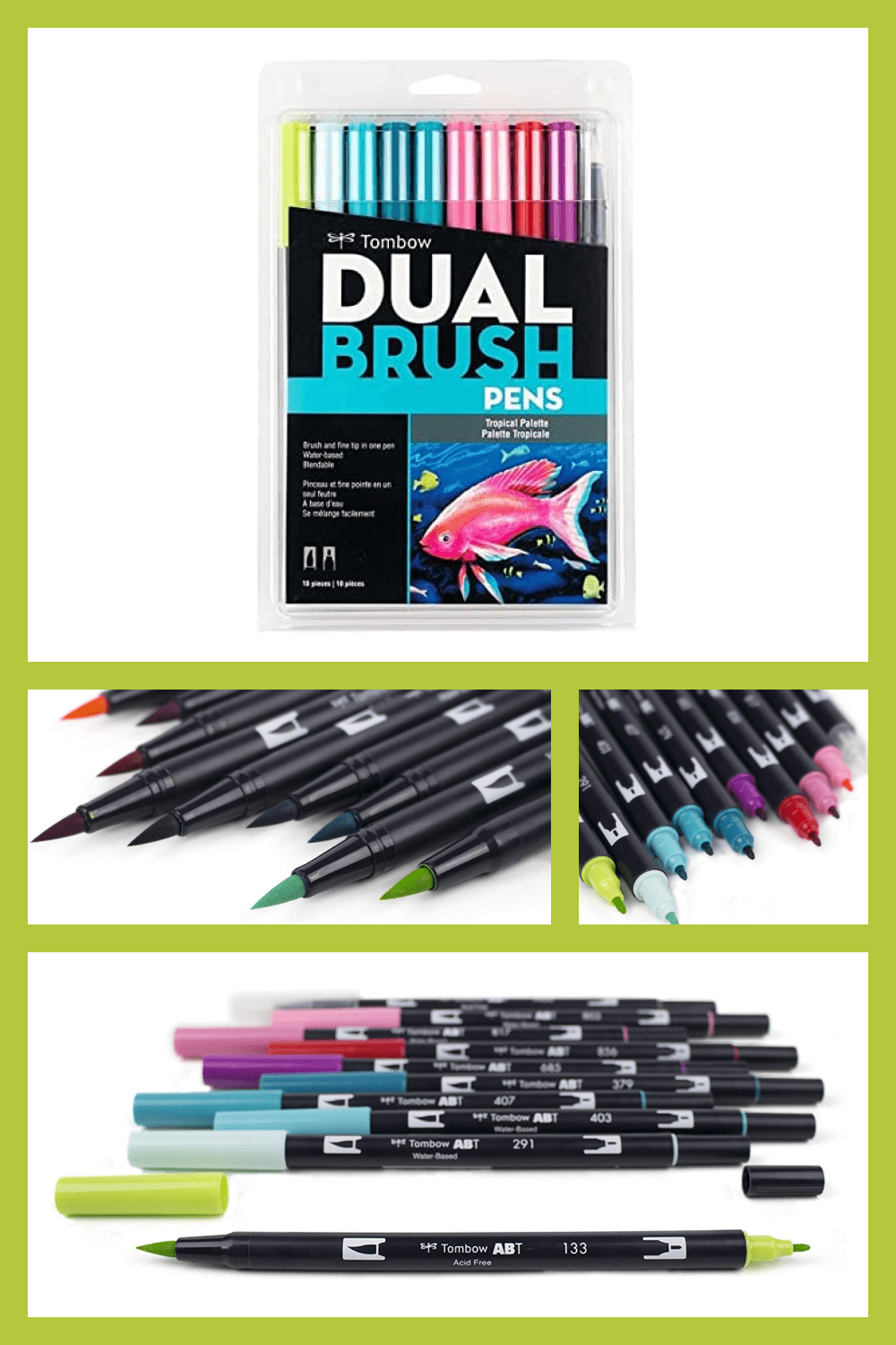 Set of 9 colors with colorless blender pen.