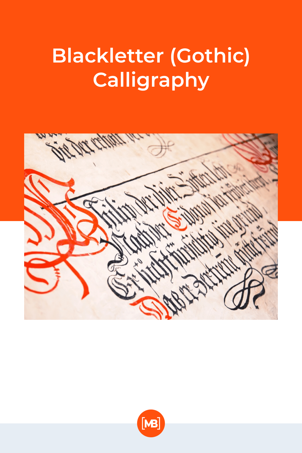 Blackletter (gothic) calligraphy.