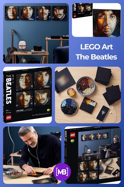 Lego art in Beatles form.