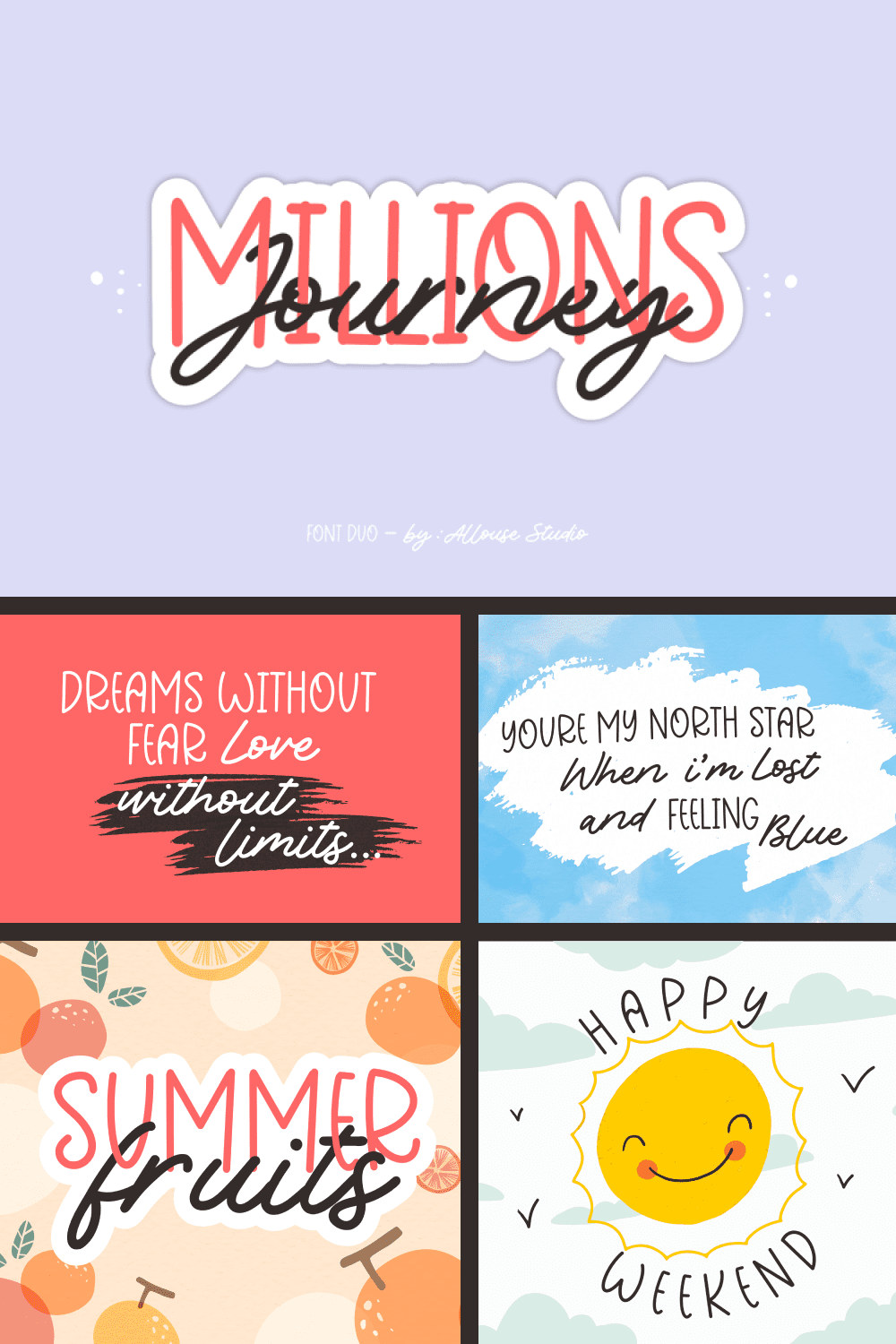 Cheerful and joyful font. Looks great in a sentence.