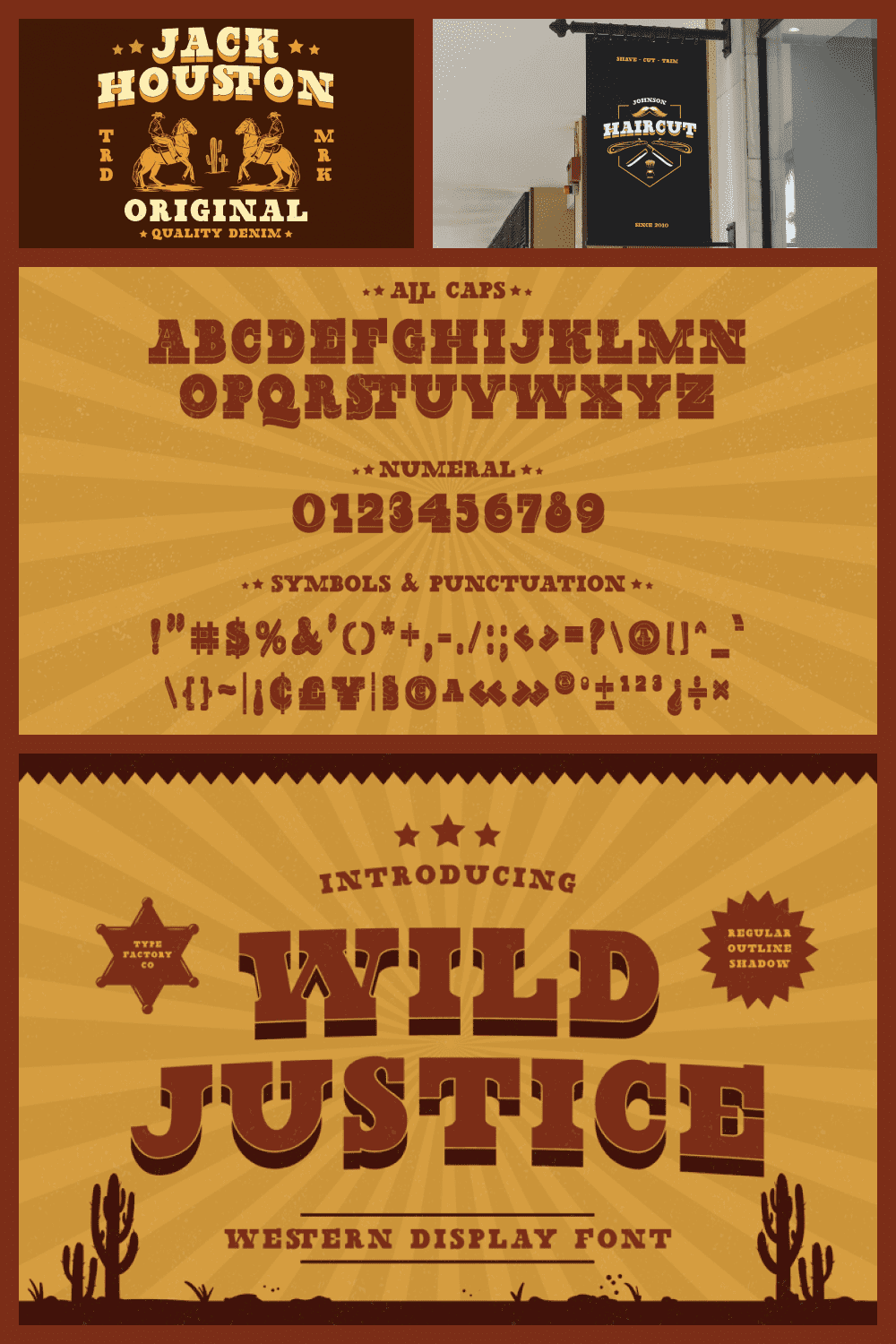 Wild font is inspired by cowboy styles.